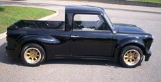 Mini pick up Mini Cooper Classic, Mini Cooper S, Classic Mini, Classic Cars, Mini Trucks, Cool Trucks, Cool Cars, Fiat 500, Pick Up