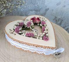 Hochzeit grün Landhaus creme Deko Metall zum Hängen Herz
