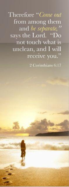 2 Corinthians 6:17