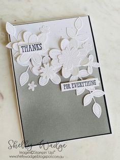 Thanks For Everything, Wink Of Stella, Basic Grey, Ink Pads, I Card, Flower Arrangements, Stampin Up, About Me Blog, Bloom