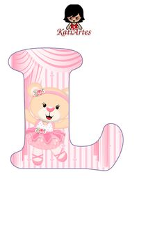 EUGENIA - KATIA ARTES - BLOG DE LETRAS PERSONALIZADAS E ALGUMAS COISINHAS: Alfabeto Ursinha Bailarina Birthday Plan Ideas, Baby Letters, Baby Shower, Hello Kitty, Alphabet, Patches, Clip Art, Scrapbook, Bear