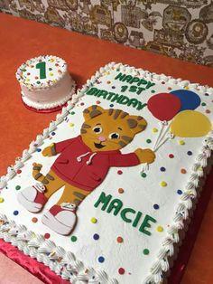 Daniel tiger sheet cake Daniel Tiger Birthday Cake, Daniel Tiger Cake, Daniel Tiger Party, Second Birthday Ideas, Twin First Birthday, Baby Boy Birthday, 3rd Birthday Parties, Birthday Sheet Cakes, Happy 1st Birthdays