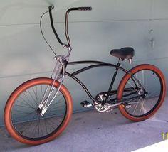 Click this image to show the full-size version. Velo Beach Cruiser, Cruiser Bicycle, Motorized Bicycle, Custom Beach Cruiser, Ape Hanger Handlebars, Ape Hangers, Tricycle Bike, Lowrider Bicycle, Motorised Bike