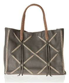 Grey Squared Lattice Tote Bag by Callista Crafts available on www.aesthet.com #aesthet #fashion #style #bag #tote