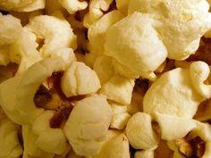 Clean burnt popcorn on stainlesss steel.