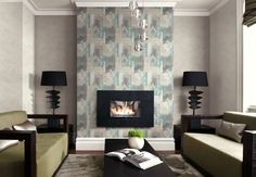 Wild Abstract Faux Wallpaper from Wallquest's Primo Collection