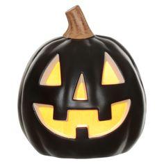 "Purchased: Halloween Lit Pumpkin 9"" (for mudroom entry)   Hyde & Eek! Boutique   Target"