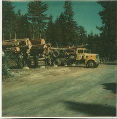 Dad's Log truck - Sierra Navada Mtns.
