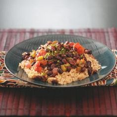Black Beans with Brown Rice.