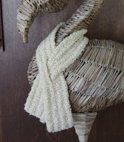This scarf was inspired by a vintage scarf that I used to own. It is easy and quick, warm and soft. Best of all (and unlike longer scarves)...