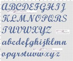 This Pin was discovered by Dra Embroidery Hearts, Embroidery Fabric, Cross Stitch Embroidery, Embroidery Patterns, Alphabet Charts, Cross Stitch Alphabet, Cross Stitch Baby, Letter Patterns, Alpha Patterns