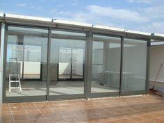 Cerramiento de #terraza de #ático de Alicante. (Proceso).