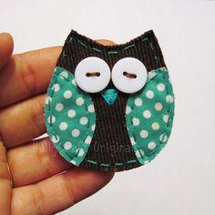 Owl Applique or Scrapbooking Embellishment by HollyCraftOriginals.