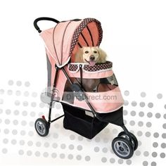 Prams -- Pink Pet Stroller.
