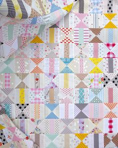 My quilt in progress this week is inspired by snippets of a vintage quilt that are pictured in the book Warman's Vintage Quilts: Identification And Price Guide by Maggi McCormick Gordon. While this bo
