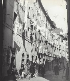 """ Street in Naples "" Italy. about 1958-1963. photo: Kees Scherer"
