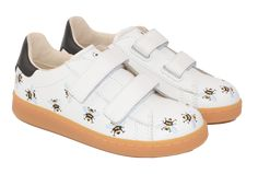 Shan and Toad - Luxury Kidswear Shop - MOA Velcro White Leather Shoes 82 @