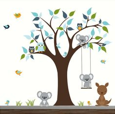 Baby Nursery Tree Wall Decals Kids Room Wall by Modernwalls