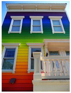 Colourful rainbow house *like*