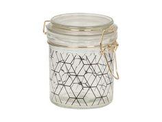 Present Time - Storage jar Hexagon Pattern