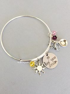 Tangled Inspired Bracelet. Rapunzel Bangle. Rapunzel Jewelry