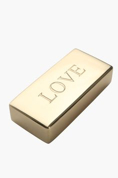 This gold looking emotive paper weight will be a must-have for your office desk. What is certain how memorable the Love paper weight is going to be.