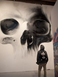 Share your graffiti and Street Art here. Art And Illustration, Illustrations, Skull Design, Art Design, Image Panda, Arte Black, Street Art, Urbane Kunst, Jolie Photo