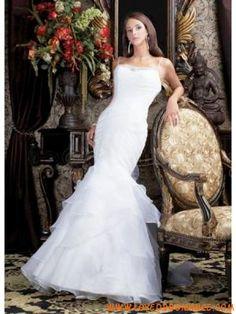 Elegant White Spaghetti Mermaid Trumpet Satin Wedding Dress