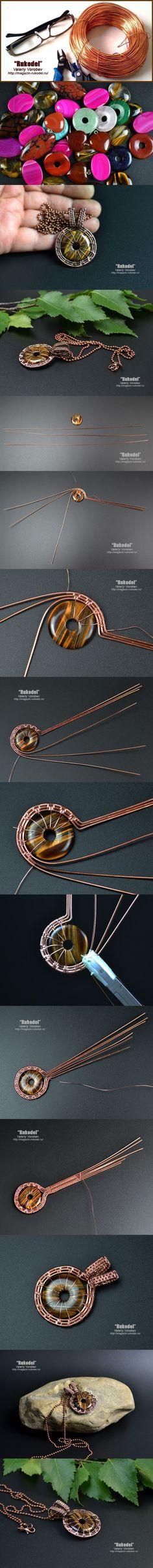 Wire wrap tutorial - Wire Wrap Pendant #wirejewelry