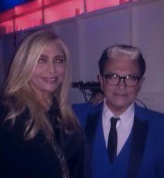 Cristiano #Malgioglio wearing Brian Dales with Mara Venier.