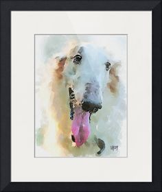 """""""Russian wolfhound"""" by Vitaly Shchukin, Penza // Digital watercolor // Imagekind.com -- Buy stunning fine art prints, framed prints and canvas prints directly from independent working artists and photographers."""