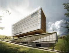 Concurso Nacional de Arquitetura para a Sede da FATMA/FAPESC – 2° Lugar Projeto 42 Responsável técnico – Arq. Mario Biselli Colaboradores – Arq. André Biselli Sauaia, Arq. Cassio …