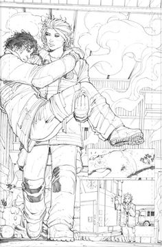 maxdunbar:  Penciled pages from the released preview for Slash...