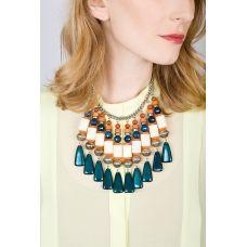 Chandelier Necklace-Blue and Orange