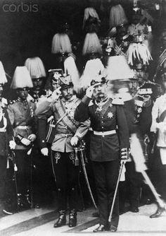 Kaiser Wilhelm II of Germany and Emperor Franz Joseph of Austria