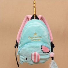 turquoise Sentimental Circus elephant plush backpack bag key chain