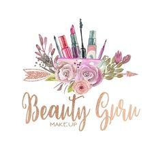 Premade Custom Logo -BEAUTY GURU- Premade Logo, Boho Hair Stylist Logo, Logo Design, Logo Branding, Makeup Artist Logo, Hair & Makeup by CharlisWeb on Etsy