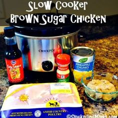 Slow Cooker Brown Sugar Chicken recipe taste amazing and is easy to prepare with a handful of 5 ingredients! Great family meal full of flavor. Slow Cooker Freezer Meals, Crock Pot Slow Cooker, Crock Pot Cooking, Slow Cooker Chicken, Slow Cooker Recipes, Crockpot Recipes, Chicken Recipes, Cooking Recipes, Ww Recipes