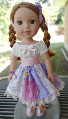 14.5 Doll Clothes Disney Princess Patchwork by Designed4Dolls