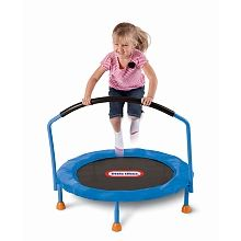 Little Tikes - 3' Trampoline - Little Tikes knows its important for kids to stay active!  This Little Tikes 3-foot trampoline is the perfect size to provide hours of bouncing fun