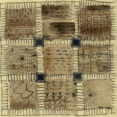 """bridges by jude hill 10"""" square, study for a larger quilt"""