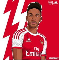 Arsenal Fc Players, Aubameyang Arsenal, Arsenal Football, Neymar Jr, Ronald Mcdonald, Soccer, Fictional Characters, Paintings, Club