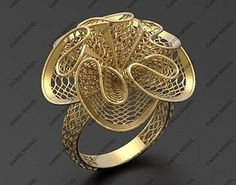 Ultra vision Ring STL model for printing 0015 model printable STL Black Jewelry, Wire Jewelry, Gold Jewelry, Vintage Jewelry, Diamond Jewelry, Jewelry Model, Jewelry Shop, Jewelry Design, Jewelry Making