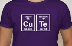 Geek Girl Shirts ... CUTE ...  Womens T-shirt / Chemistry shirt / Science shirt / valentines gift / Geekery / Fun T-Shirt