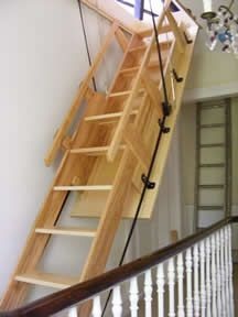 retractable ladder rintal escalmatic home pinterest retractable ladder attic and staircases