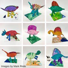 on the Medium Paint (Mini Matisse) Dinosaur Art Projects, 3d Art Projects, Dinosaur Activities, Kindergarten Sculpture, Kindergarten Art, Sculpture Lessons, Sculpture Projects, Sculpture Ideas, Art Sculptures