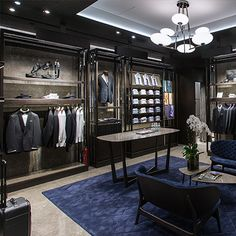 Default Description Visual Merchandiser, styling and still life designs Clothing Store Interior, Clothing Store Design, Suit Stores, Jewelry Store Design, Fashion Showroom, Boutique Interior Design, Retail Store Design, Shop Fittings, Suit Shop