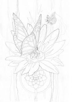 Bergsma Gallery Press::Paintings::Originals::Original Sketches::2009/Butterfly Magic... - Original Sketch