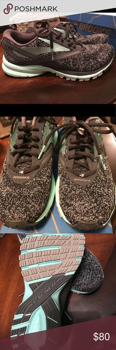Women's Brooks Launch 4 Brooks Launch 4, only worn inside on treadmill and have around 15-20 miles on them. Color is anthracite/beach glass/silver. Brooks Shoes Athletic Shoes