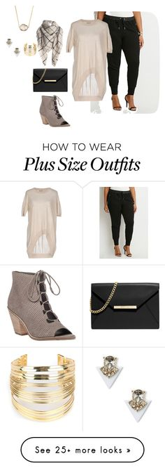 """plus size simple and chic friday night out"" by kristie-payne on Polyvore featuring Eileen Fisher, Forever 21, Tua Nua, MICHAEL Michael Kors, Sole Society, Jules Smith, WithChic, women's clothing, women and female"
